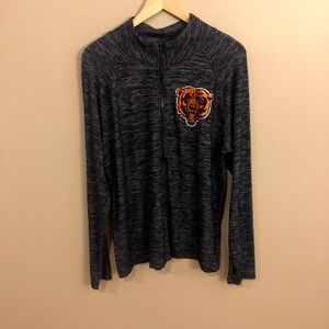 Tops - Chicago Bears Womens Quater Zip Pullover